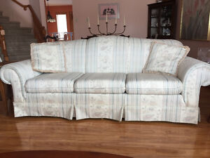 Sofa, loveseat and wing chair