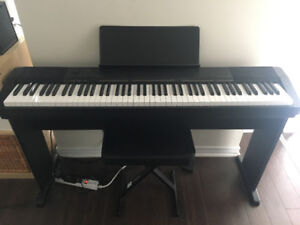 Casio 88-key CDP-130 Digital Piano with Stand, pedal and bench