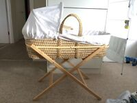 Moses basket & stand - great condition