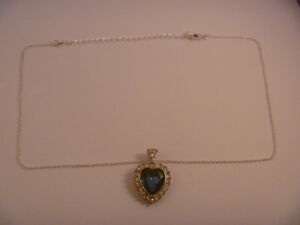 Necklace With Blue Heart Charm