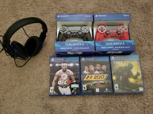 Ps4 games, Controllers & Headset...