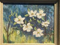 Dogwood..... An Original Oil Painting by E. Robinson