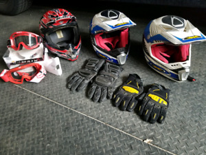 Helmets,goggles,gloves $130 for everything