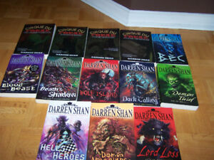 13 large DARREN SHAN softcover books