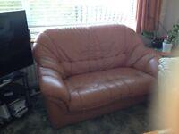 FREE - 2 seater leather sofa -terracotta colour