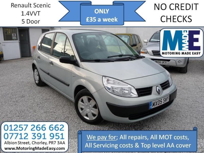 **£35 A WEEK** Renault Scenic 1.4 VVT Dynamique, 5DR MPV, 12 MONTH MOT EW CD RCL