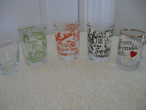 INTERESTING COLLECTION of  FIVE SHOT GLASSES