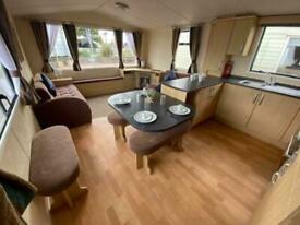 extra wide 3 bedroom caravan with u shape kitchen and bunk beds