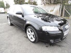 Audi A3 2.0TDI 2006 Sport, Black,3 Door Hatchback, 6 Months Warranty, 1 Year Mot