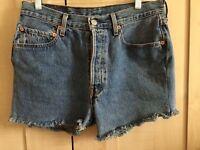 Denim Levi shorts