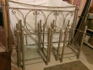 King iron bed and night tables, Custom  made...