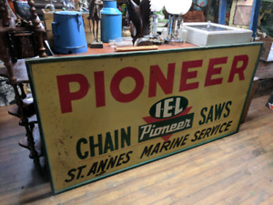 Pioneer Chainsaws Metal Sign