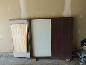 Hanging white board cabinet