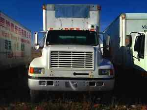 PARTING OUT International 4900 DT 466E, 1997, White, #5491