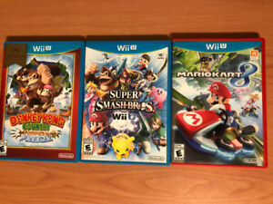 WiiU Donkey Kong Tropical Freeze / Super Smash Bros / MarioKart8