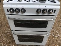 New World New Home Gas Cooker Double Oven in Good Condition