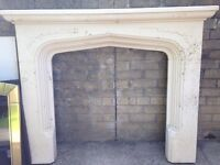 Sandstone Fireplace and Electric Fire NEEDS TO GO