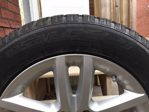 Like new TOYO GSI-5 Winter tires mounted and balanced on alloy r
