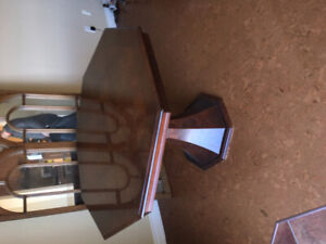 Mahogany Table /w Glass overlay