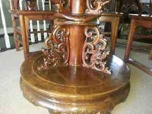 Exotic dining table 4 chairs/Alter Table imported from China Peterborough Peterborough Area image 6
