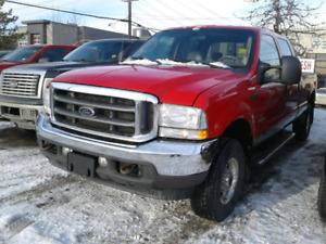 2004 Ford F-350 Lariat Crew 4x4 Diesel Red