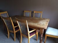 Large dining room table + 6 chairs