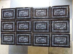 Black & White Glossy design Wall Tiles (24) - USED