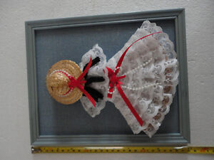 Vintage handmade lack doll wall hanging decorative accent London Ontario image 1