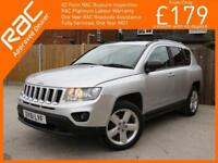 2011 Jeep Compass 2.4 Limited Ltd Auto 4x4 4WD Sat Nav Bluetooth Full Leather He