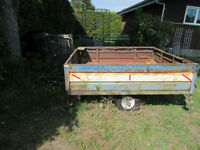Utility trailer with spare tire