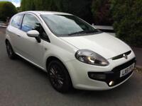Fiat Punto Evo 1.2 16v White Low Miles FSH Long Mot PX Welcome Cruise Bluetooth
