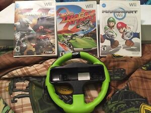 Wii games and wheel for sale!! Mariokart Sold!!