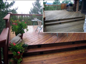 DECK, FENCE REFINISHING, STAINING, INSTALLATION 416-723-4204