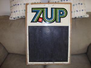 7up Blackboard Metal Sign