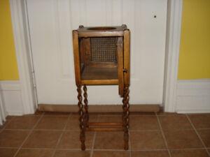 Antique Smoking Cabinet/Humidor