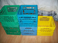 Plastic milk cartons for storing toys or crafts