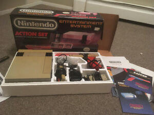 NES with gun and 2 controllers. Missing the duck game