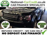 Land Rover Range Rover Sport 3.0 SDV6 HSE AUTO 4WD Good / Bad Credit Car Finance (black) 2013