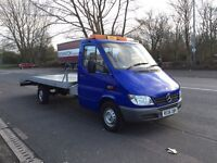 Mercedes sprinter 313cdi recovery truck low mileage long mot