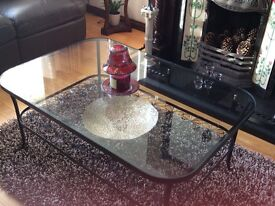 Lovely Glass and Metal coffee table