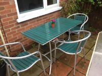 Garden table and chairs cheap £30