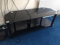 Black Glass TV stand/Entertainment centre.