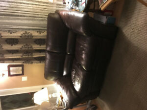 All leather sofa and loveseat set