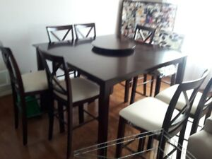 """Dinning Table + 8 Chairs -  54"""" x 54"""""""