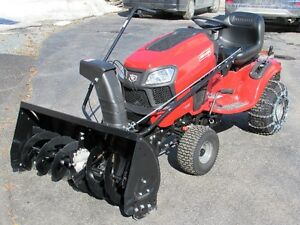 Snow thrower attachment for lawn tractor
