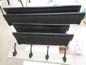 Crown molding display shelves