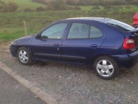 Renault megane only £300 to december.drives very well. motd.NOT GOLF.LEON.PASSAT.astra.corsa.clio