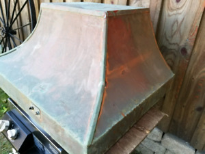 Vintage Copper Kitchen Stove Exhaust Fan