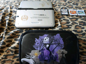 3ds xl mint 3 pokemon games and case
