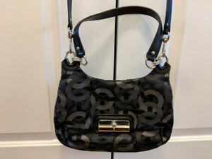 Black and Silver Coach purse